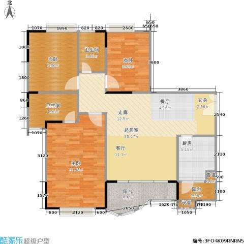 枫丹树语城3室0厅2卫1厨119.00㎡户型图