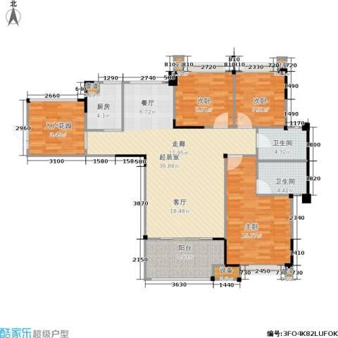 南方新城苹果派3室0厅2卫1厨108.46㎡户型图