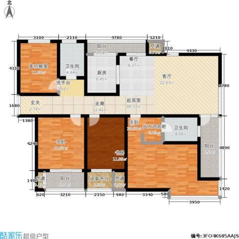 新港天都花园3室0厅2卫1厨170.00㎡户型图