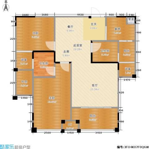 南方新城苹果派2室0厅2卫1厨89.75㎡户型图