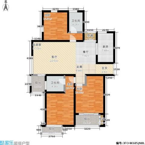 新港天都花园3室0厅2卫1厨140.00㎡户型图