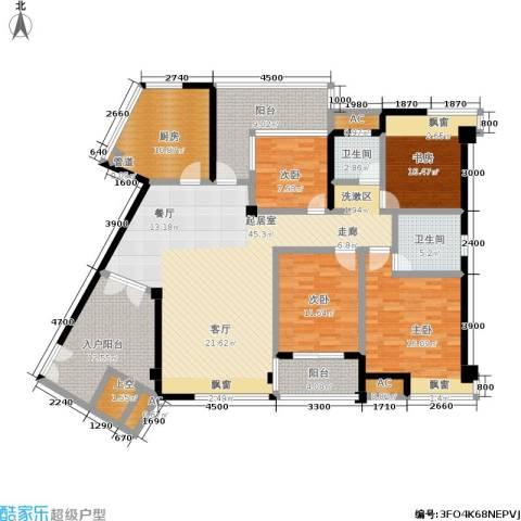 维一星城・原山苑4室0厅2卫1厨154.00㎡户型图
