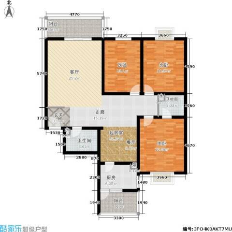 唐宫尚品3室0厅2卫1厨141.00㎡户型图