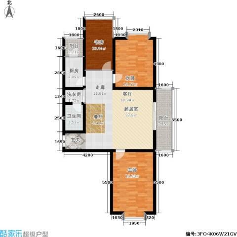 唐宫尚品3室0厅1卫1厨138.00㎡户型图