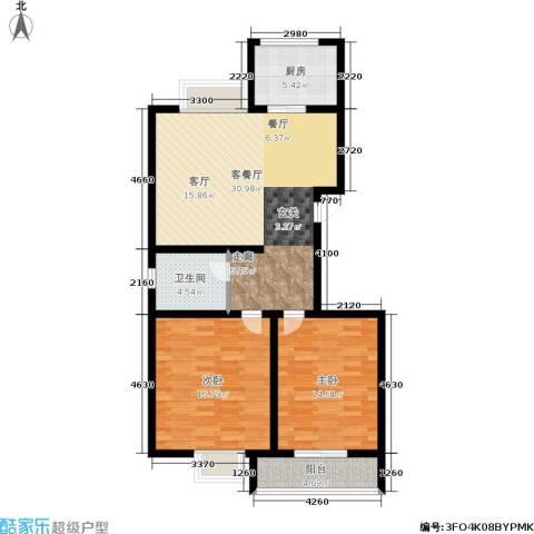 锦尚祥福居2室1厅1卫1厨88.00㎡户型图