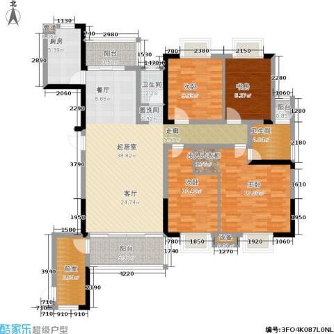 湘翰御舍4室0厅2卫1厨152.00㎡户型图