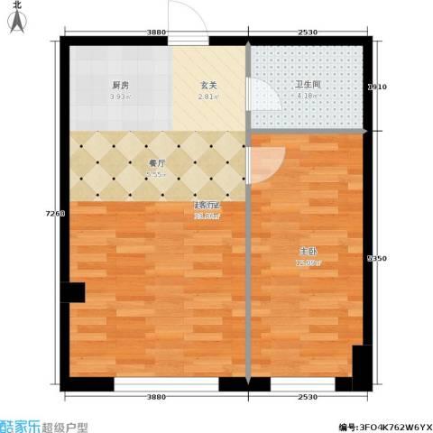 景阳SOHO1室0厅1卫0厨58.00㎡户型图