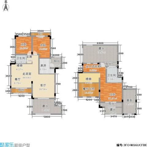 金科天湖小镇3室0厅2卫1厨192.19㎡户型图