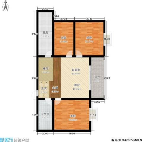 嘉泰隆花园3室0厅1卫1厨121.00㎡户型图