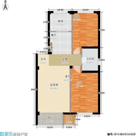 华兴尚园2室0厅1卫1厨116.00㎡户型图