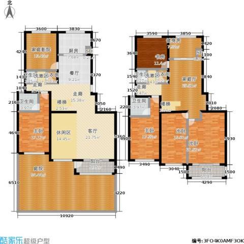汇东香墅里5室0厅4卫1厨315.00㎡户型图