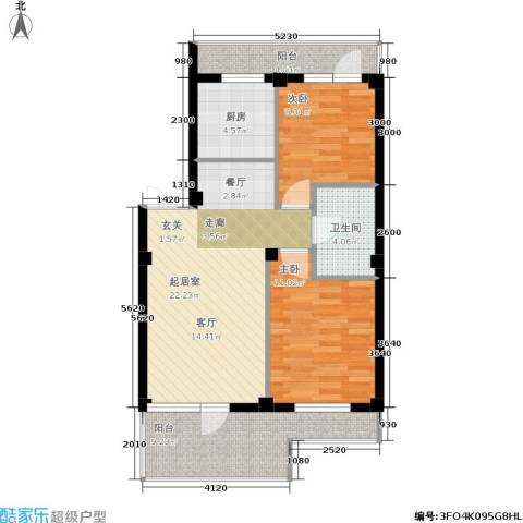 华兴尚园2室0厅1卫1厨90.00㎡户型图