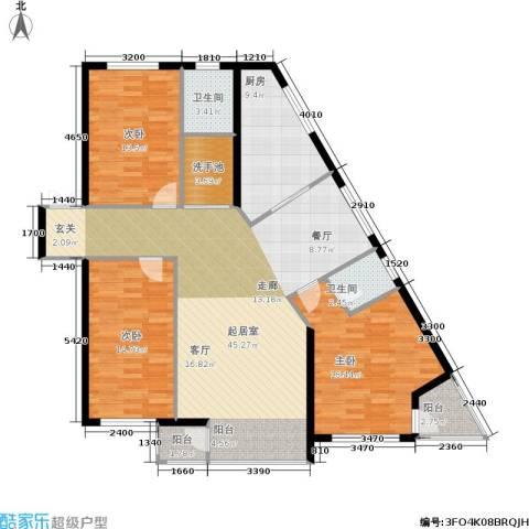 华兴尚园3室0厅2卫1厨157.00㎡户型图