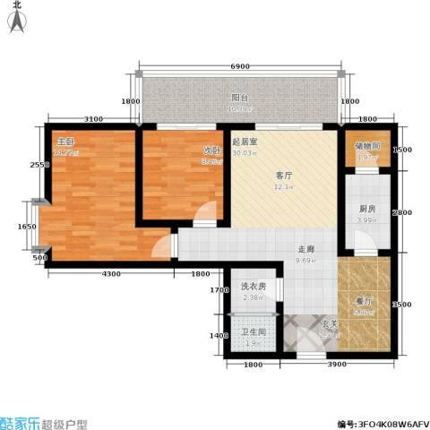 唐宫尚品2室0厅1卫1厨102.00㎡户型图