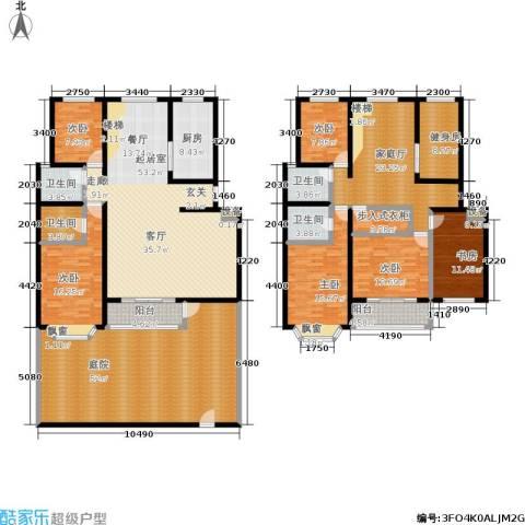 汇东香墅里6室0厅4卫1厨350.00㎡户型图