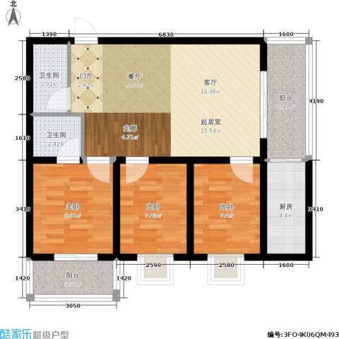 嘉泰隆花园3室0厅2卫1厨79.00㎡户型图