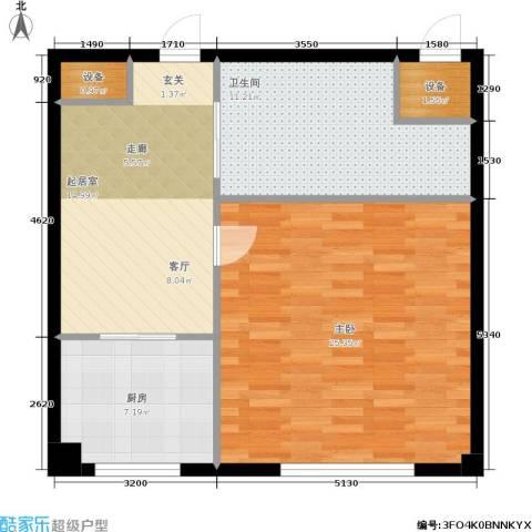 华兴尚园1室0厅1卫1厨85.00㎡户型图