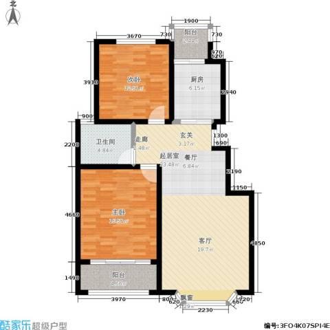 汇东香墅里2室0厅1卫1厨115.00㎡户型图