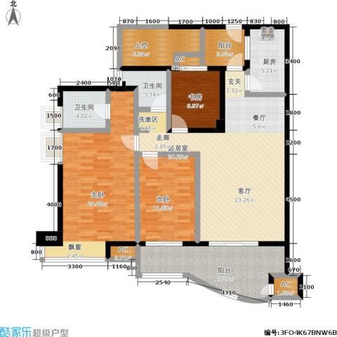 维一星城・原山苑3室0厅2卫1厨132.00㎡户型图