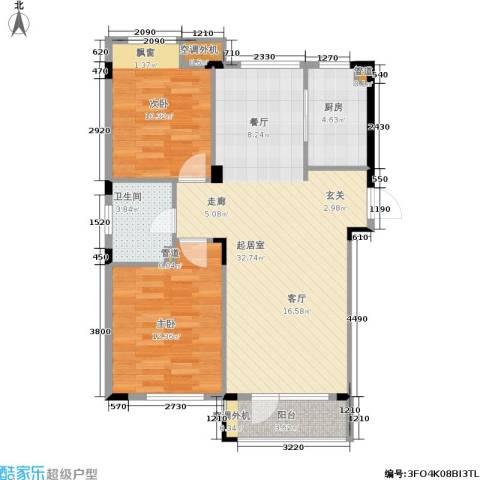 斯坦福院落2室0厅1卫1厨75.27㎡户型图