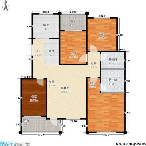 普利林景山庄4室1厅2卫1厨162.00㎡户型图