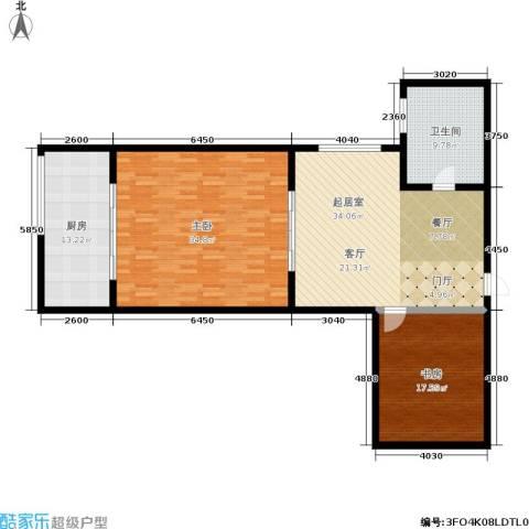 嘉泰隆花园2室0厅1卫1厨122.00㎡户型图