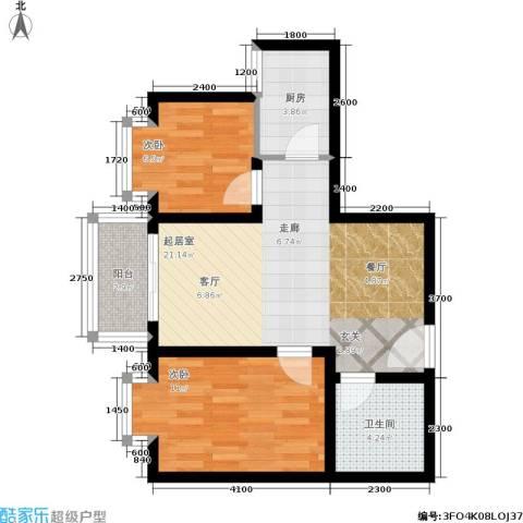 唐宫尚品2室0厅1卫1厨73.00㎡户型图