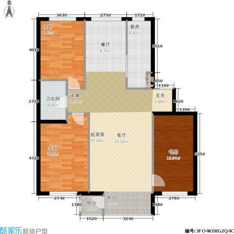 华兴尚园3室0厅1卫1厨121.00㎡户型图