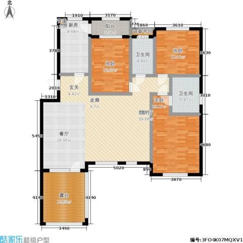 壹品漫谷3室1厅2卫1厨183.00㎡户型图