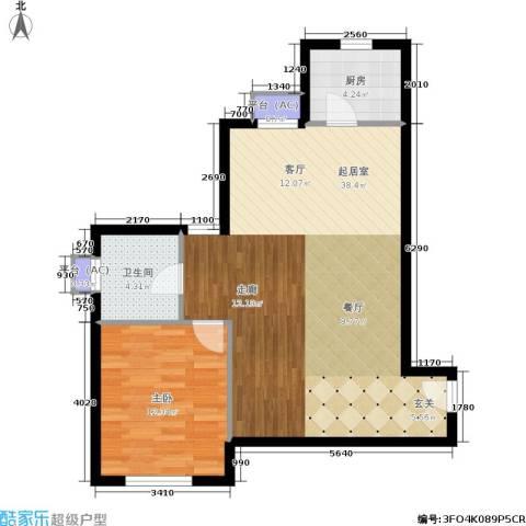 水晶公寓1室0厅1卫1厨84.00㎡户型图