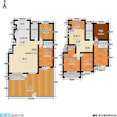 汇东香墅里5室0厅4卫1厨398.00㎡户型图