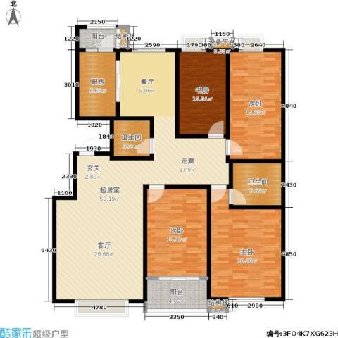 银座花园4室0厅2卫1厨152.60㎡户型图