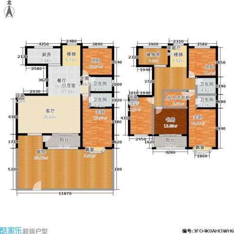 汇东香墅里6室0厅4卫1厨389.00㎡户型图