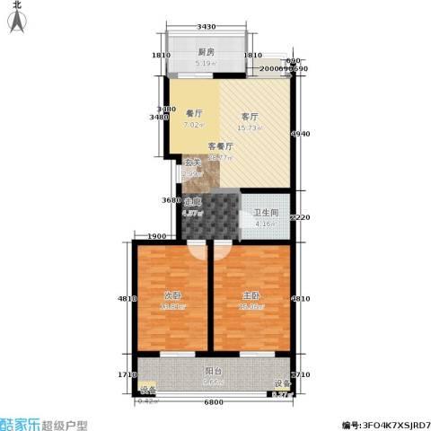 金玉人家2室1厅1卫1厨81.00㎡户型图