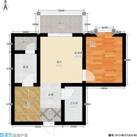 唐宫尚品1室0厅1卫1厨68.00㎡户型图