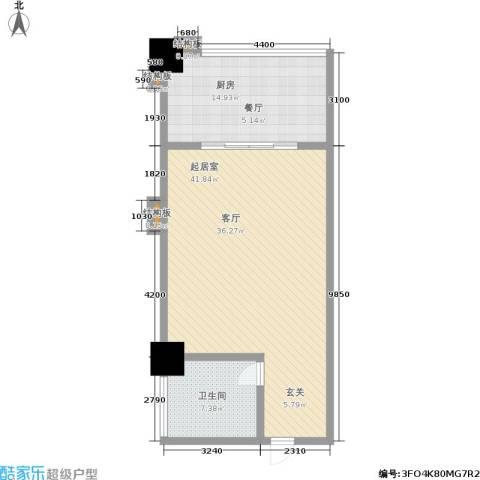 嘉盛国际广场1卫1厨72.00㎡户型图