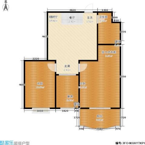 正大城市花园2室1厅1卫1厨103.00㎡户型图