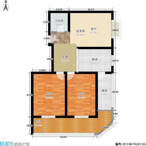 金玉人家2室0厅1卫2厨86.64㎡户型图