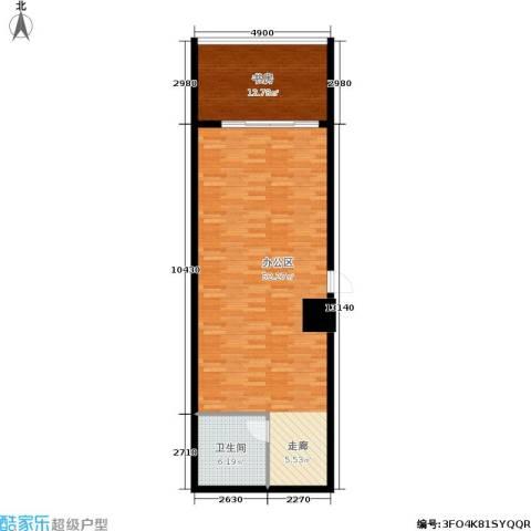 嘉盛国际广场1室0厅1卫0厨79.00㎡户型图