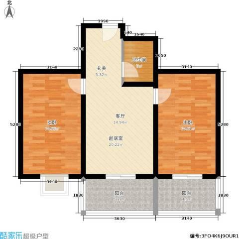 灞柳良居2室0厅1卫0厨72.00㎡户型图