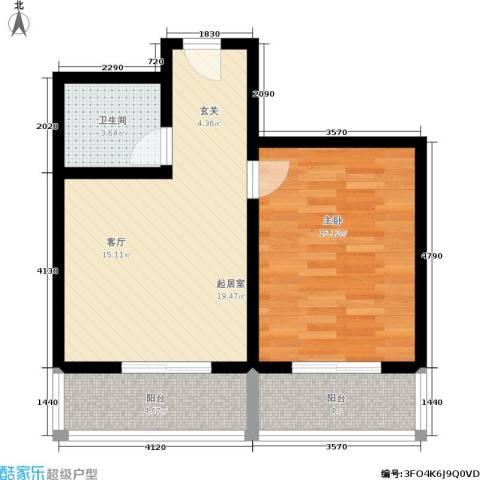 灞柳良居1室0厅1卫0厨55.00㎡户型图