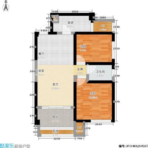灞柳良居2室0厅1卫1厨84.00㎡户型图
