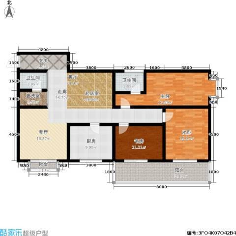 唐宫尚品3室0厅2卫1厨130.00㎡户型图
