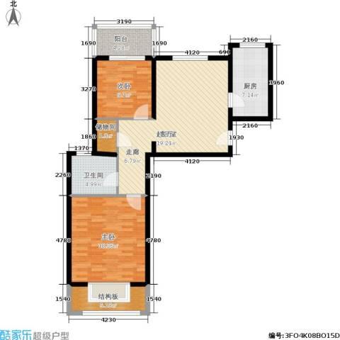 灞柳生态家园2室0厅1卫1厨89.00㎡户型图