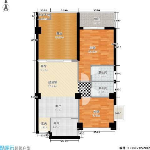 乐活小镇2室0厅2卫1厨110.00㎡户型图