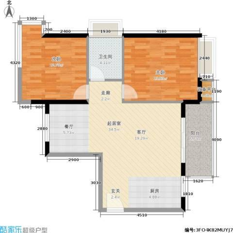泉舜泉水湾2室0厅1卫0厨88.00㎡户型图