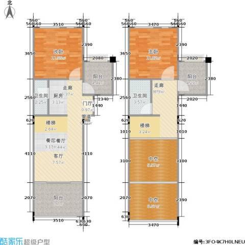 洱海传奇2室1厅2卫0厨131.00㎡户型图