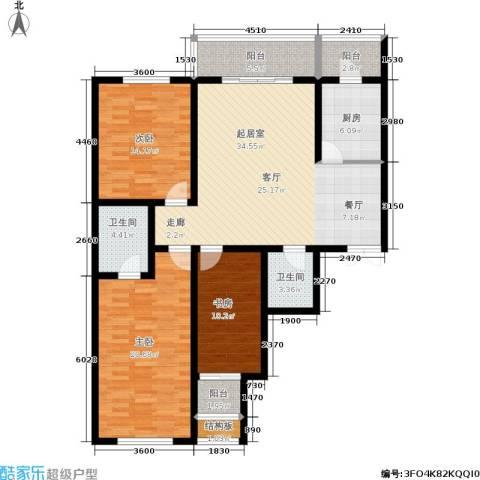 天馨逸家3室0厅2卫1厨151.00㎡户型图