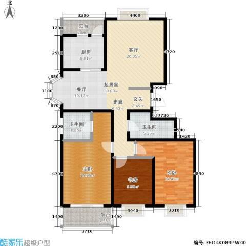 银座花园3室0厅2卫1厨137.00㎡户型图