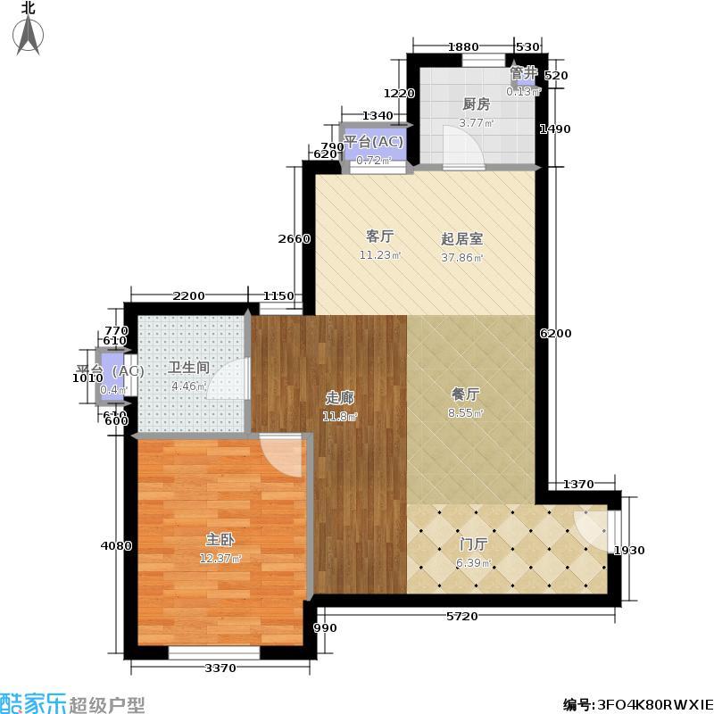 水晶公寓40.00㎡户型